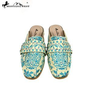 Montana West Embroidered Collection Mule     TU23